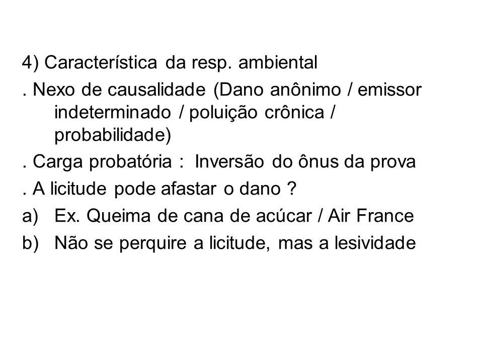 4) Característica da resp. ambiental