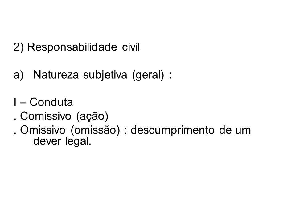2) Responsabilidade civil