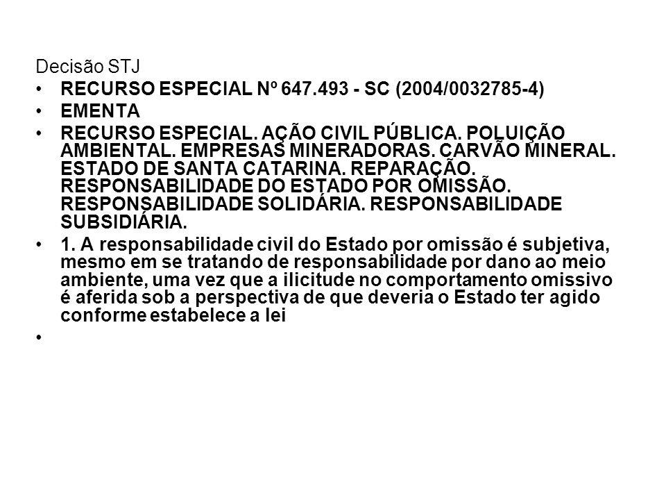 Decisão STJ RECURSO ESPECIAL Nº 647.493 - SC (2004/0032785-4) EMENTA.