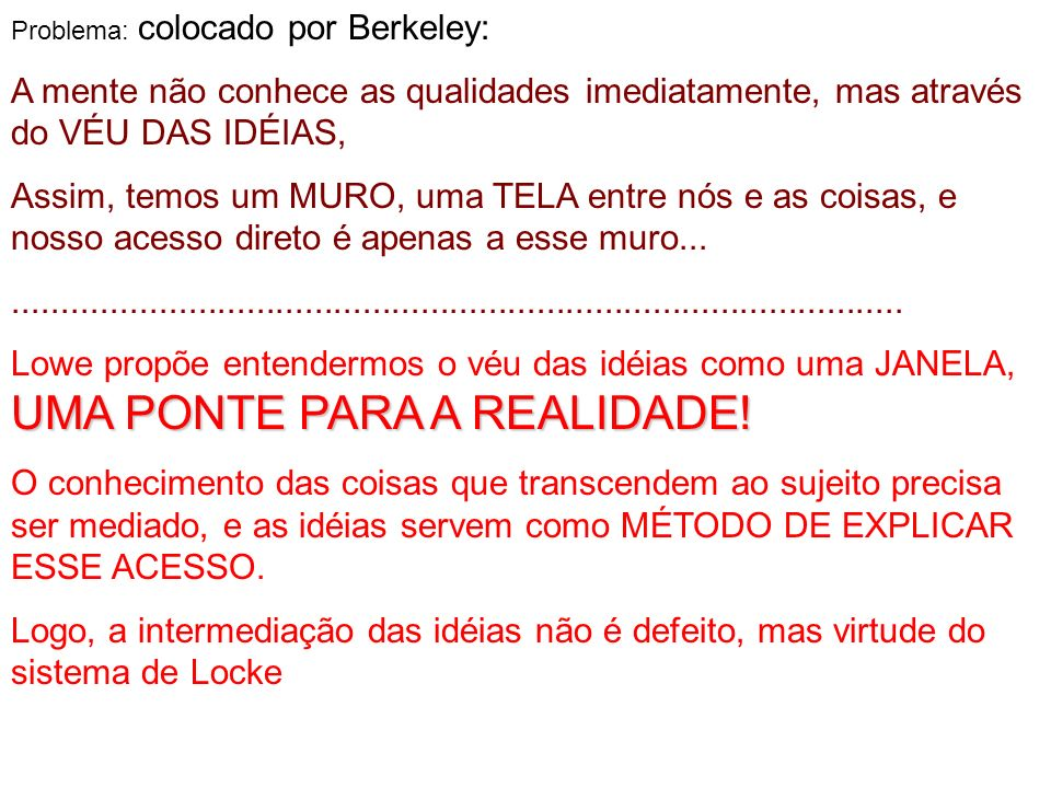 Problema: colocado por Berkeley: