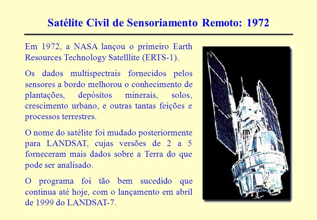 Satélite Civil de Sensoriamento Remoto: 1972