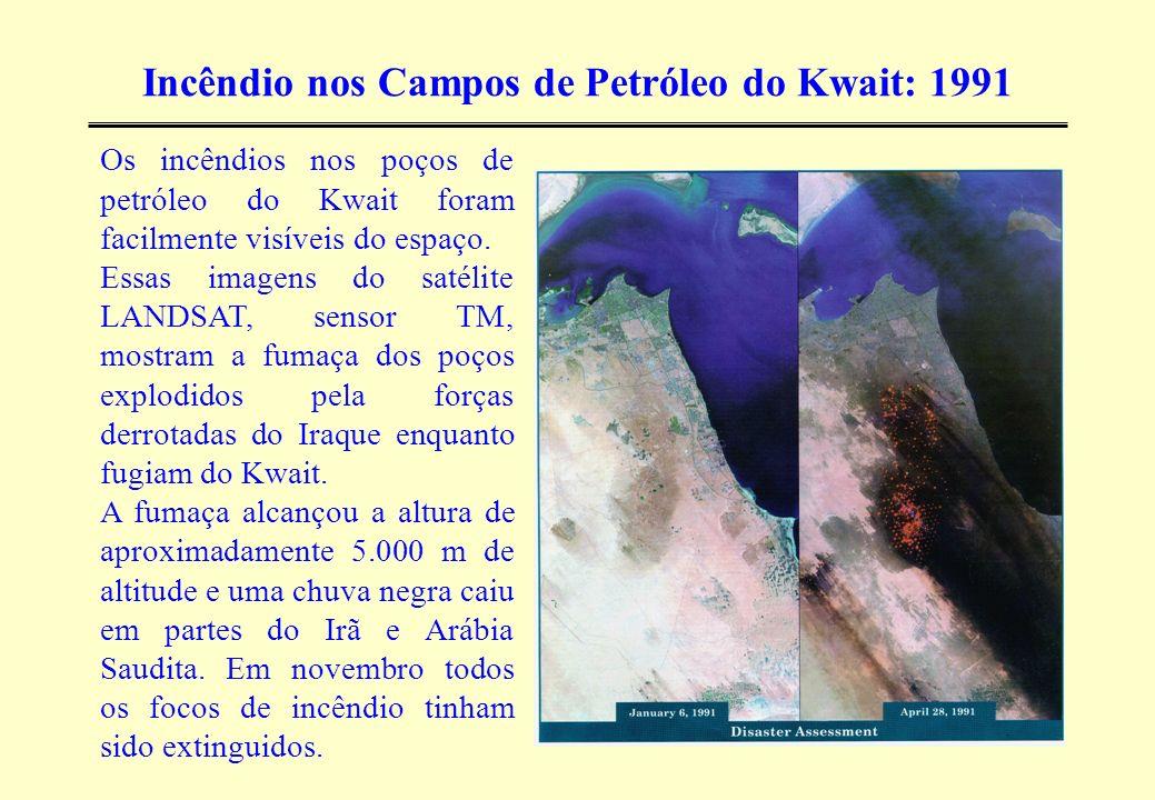 Incêndio nos Campos de Petróleo do Kwait: 1991
