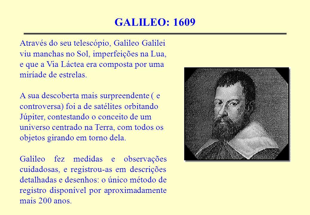 GALILEO: 1609 Através do seu telescópio, Galileo Galilei