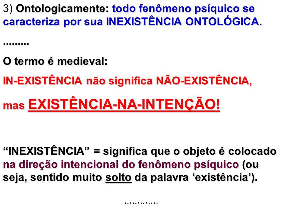 IN-EXISTÊNCIA não significa NÃO-EXISTÊNCIA,