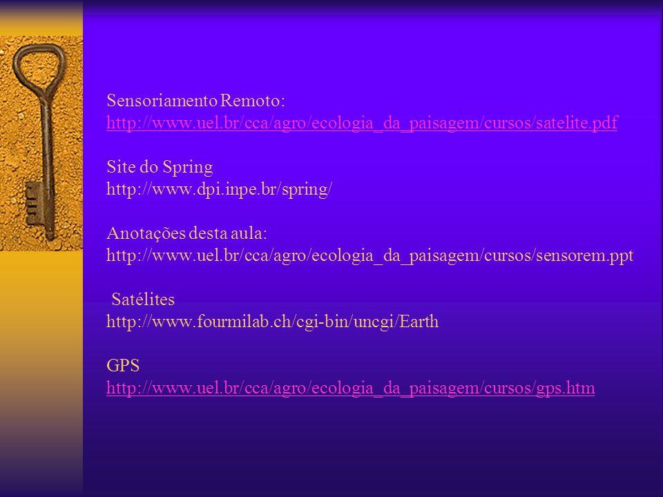 Sensoriamento Remoto: http://www. uel