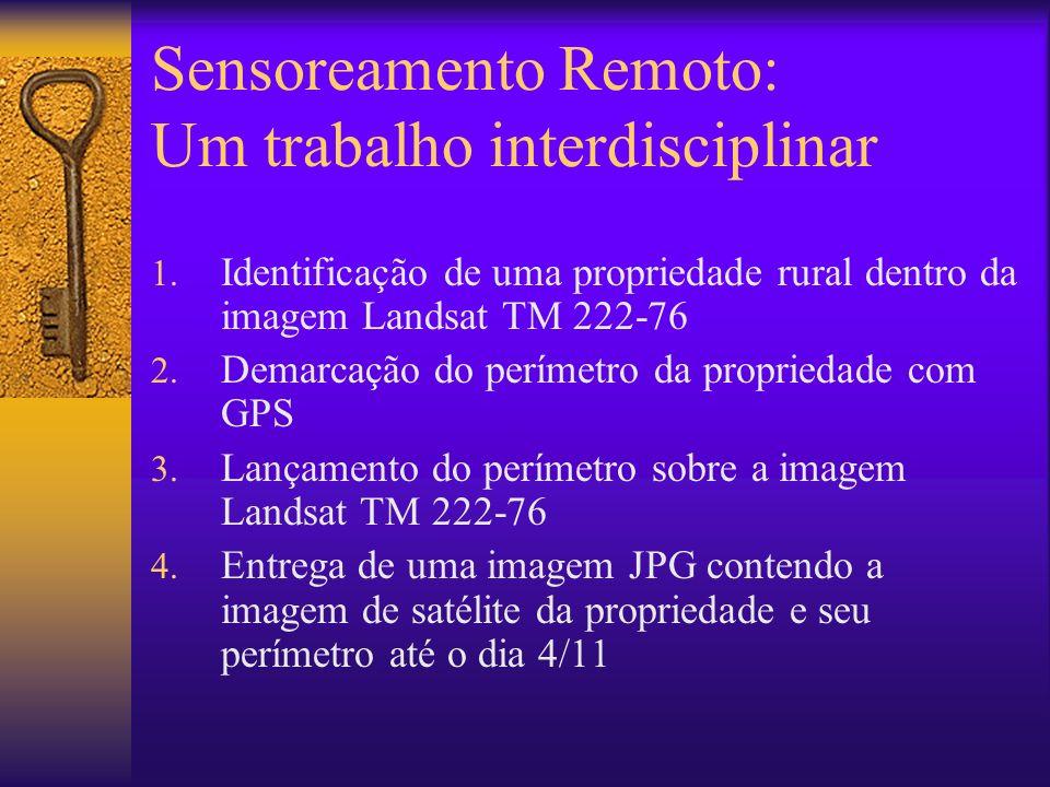 Sensoreamento Remoto: Um trabalho interdisciplinar