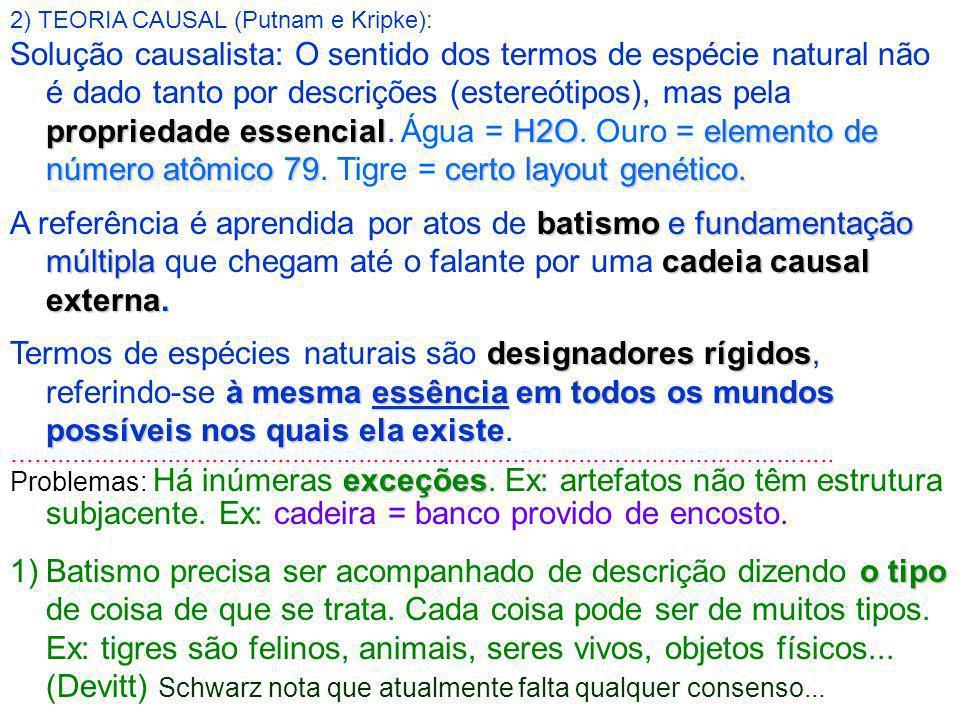 2) TEORIA CAUSAL (Putnam e Kripke):