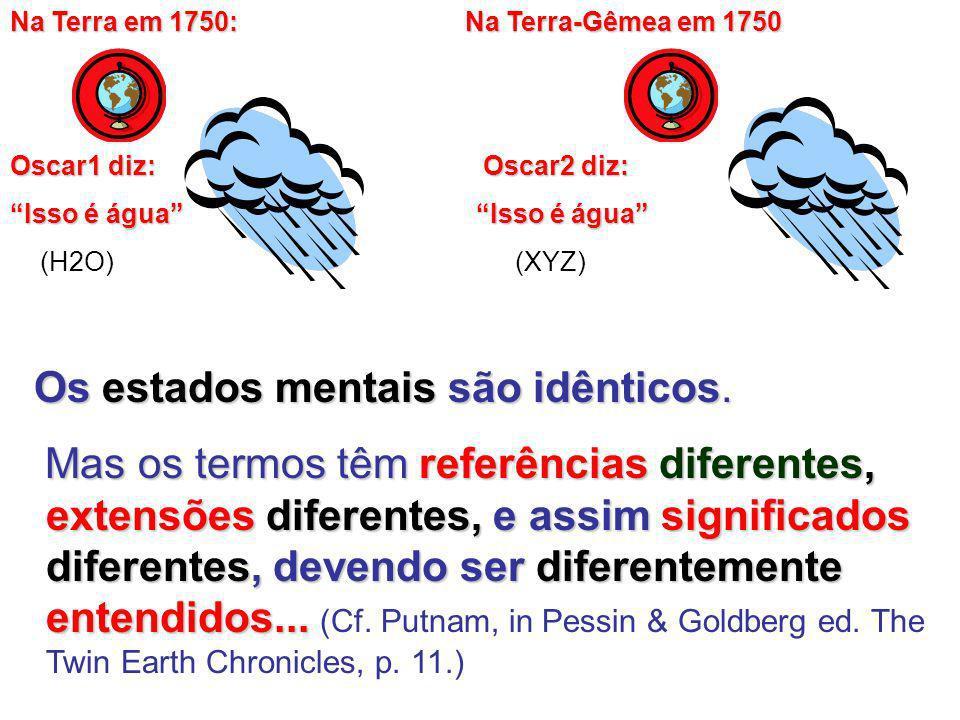 Os estados mentais são idênticos.