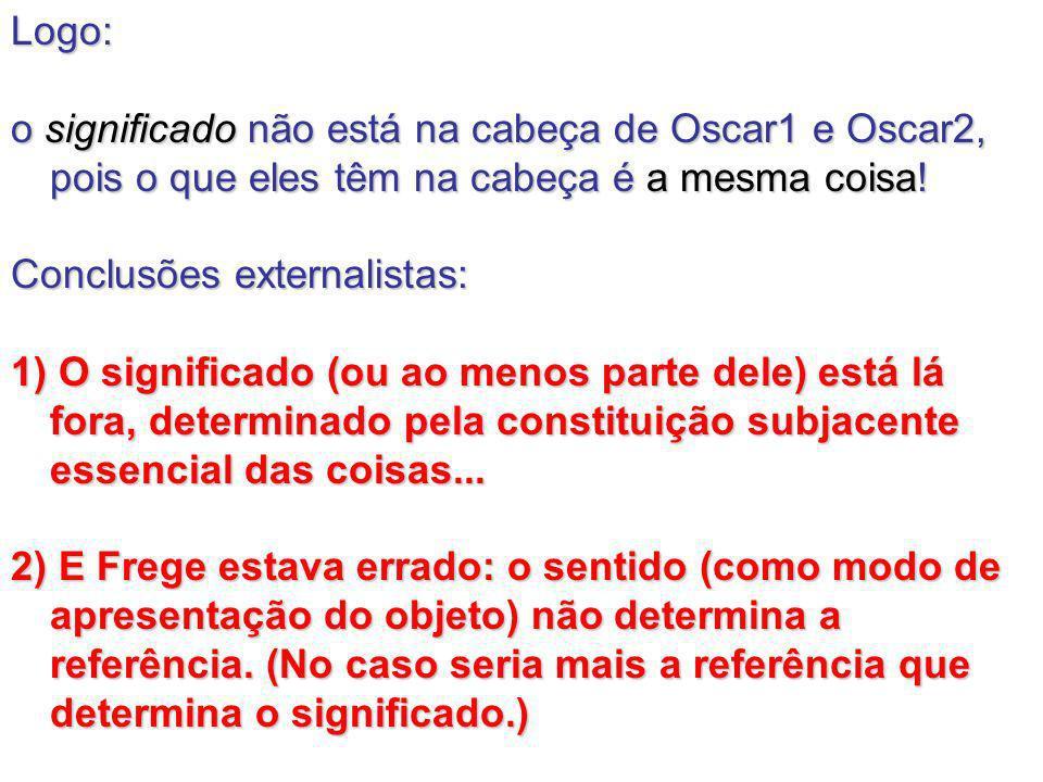 Logo: o significado não está na cabeça de Oscar1 e Oscar2, pois o que eles têm na cabeça é a mesma coisa!