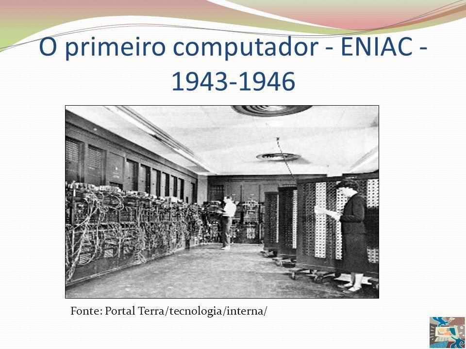 O primeiro computador - ENIAC -1943-1946