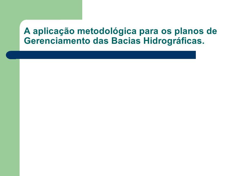 A aplicação metodológica para os planos de Gerenciamento das Bacias Hidrográficas.