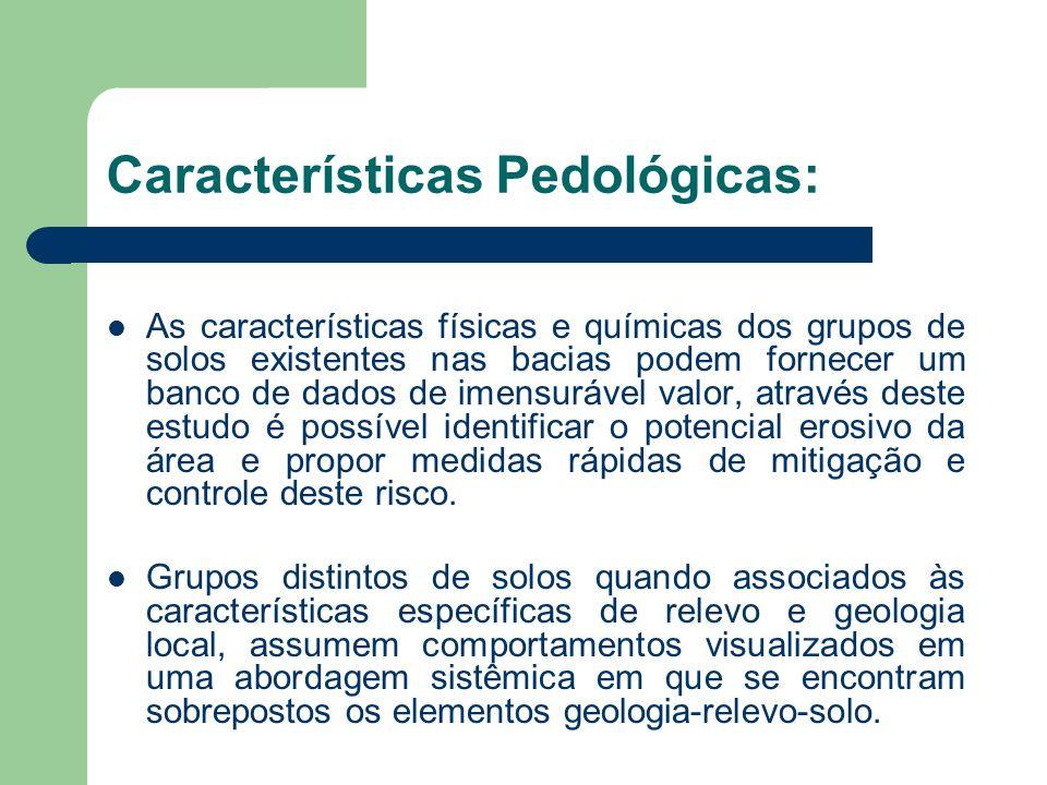 Características Pedológicas: