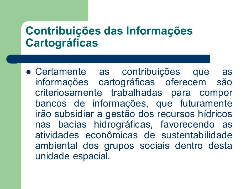 Contribuições das Informações Cartográficas