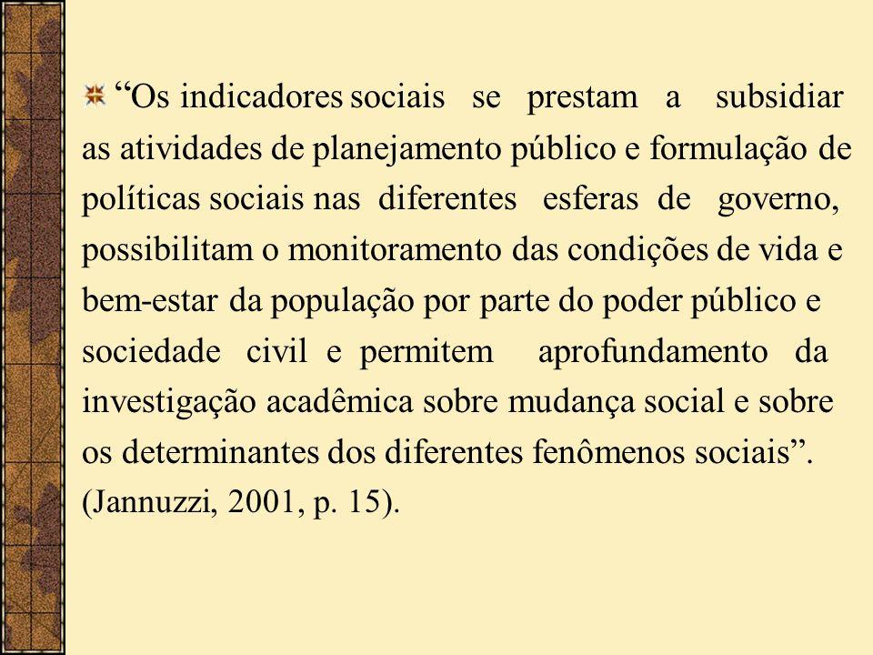 Os indicadores sociais se prestam a subsidiar