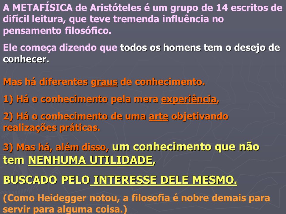 BUSCADO PELO INTERESSE DELE MESMO.