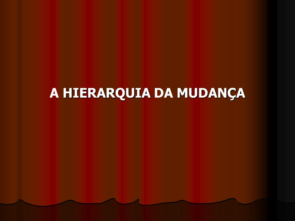 A HIERARQUIA DA MUDANÇA