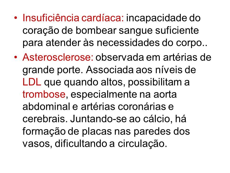Insuficiência cardíaca: incapacidade do coração de bombear sangue suficiente para atender às necessidades do corpo..