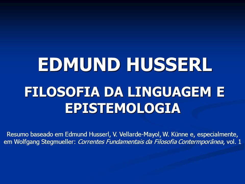 FILOSOFIA DA LINGUAGEM E EPISTEMOLOGIA