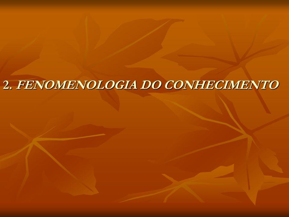 2. FENOMENOLOGIA DO CONHECIMENTO