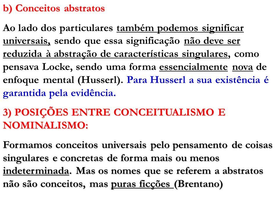 b) Conceitos abstratos