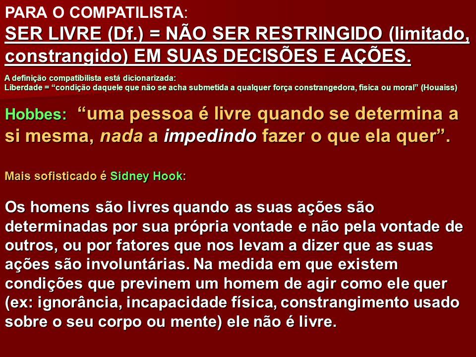 PARA O COMPATILISTA: SER LIVRE (Df