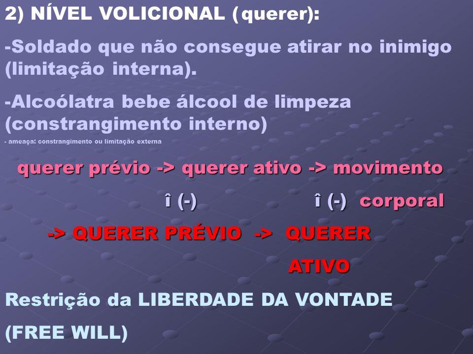 2) NÍVEL VOLICIONAL ( querer):