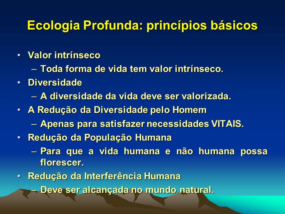 Ecologia Profunda: princípios básicos