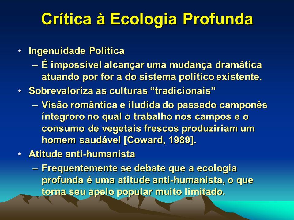 Crítica à Ecologia Profunda