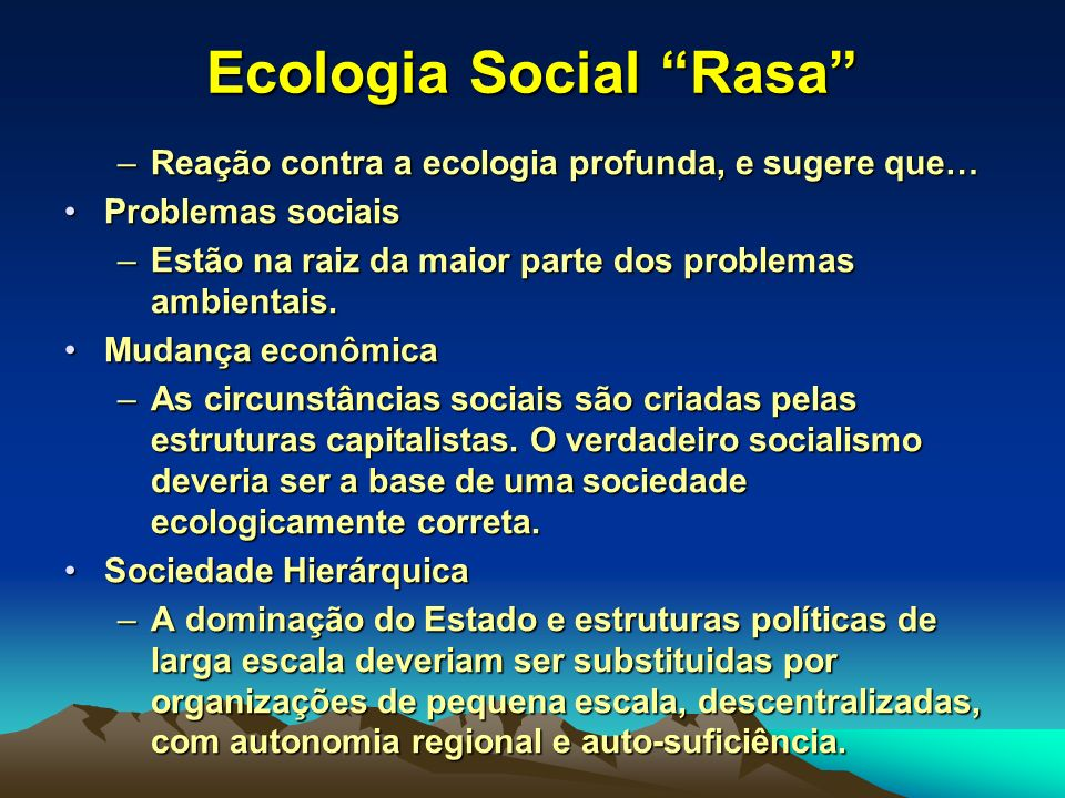 Ecologia Social Rasa