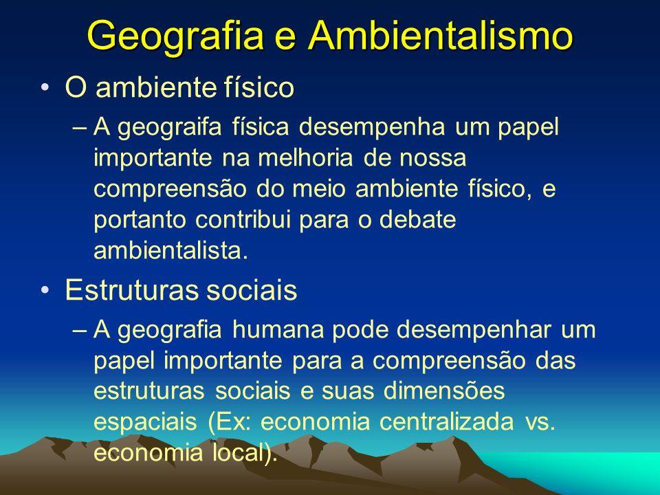 Geografia e Ambientalismo
