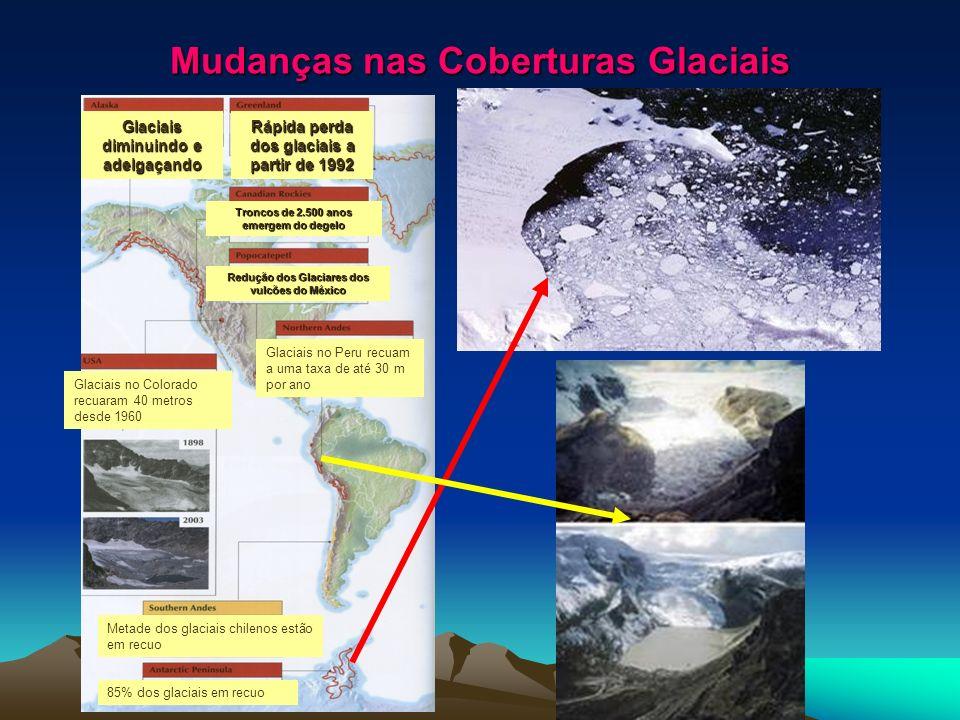Mudanças nas Coberturas Glaciais
