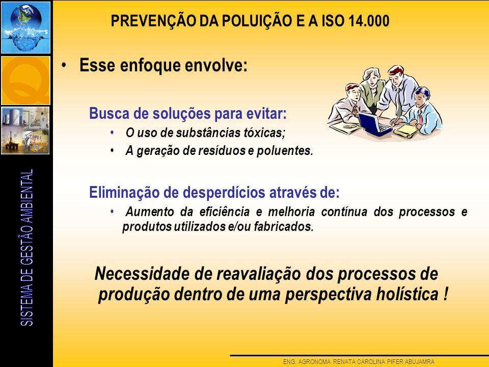 PREVENÇÃO DA POLUIÇÃO E A ISO 14.000