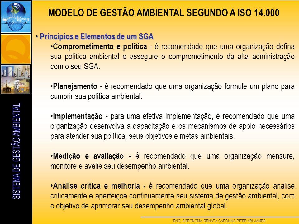 MODELO DE GESTÃO AMBIENTAL SEGUNDO A ISO 14.000