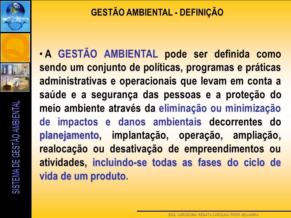GESTÃO AMBIENTAL - DEFINIÇÃO