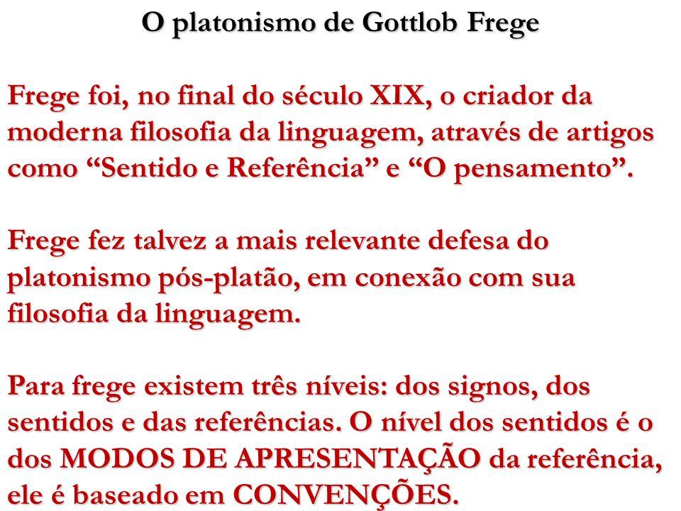 O platonismo de Gottlob Frege