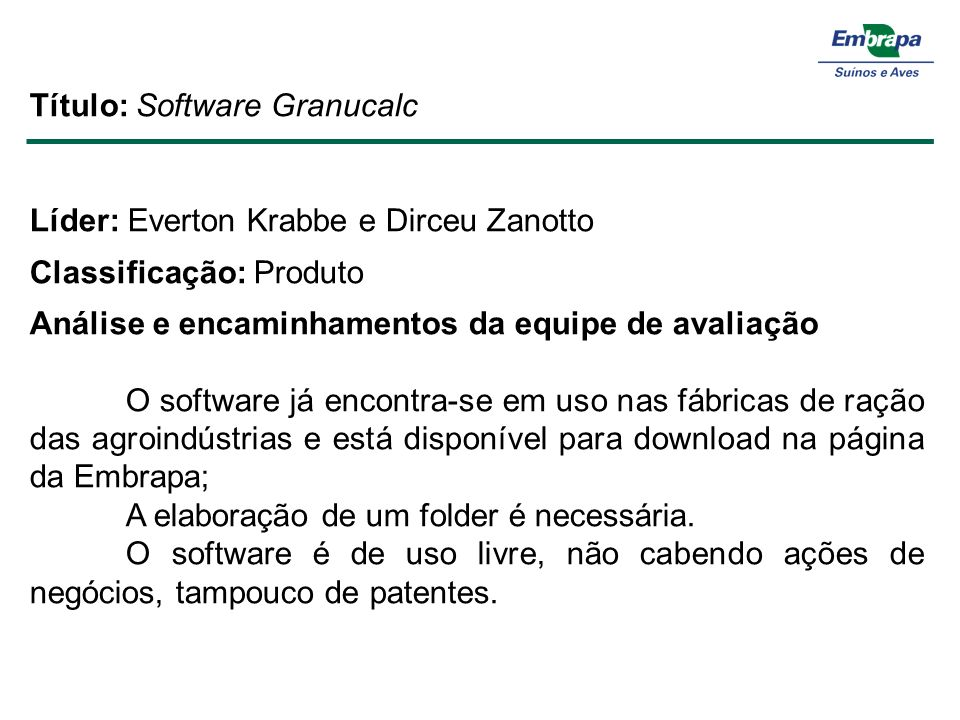 Título: Software Granucalc