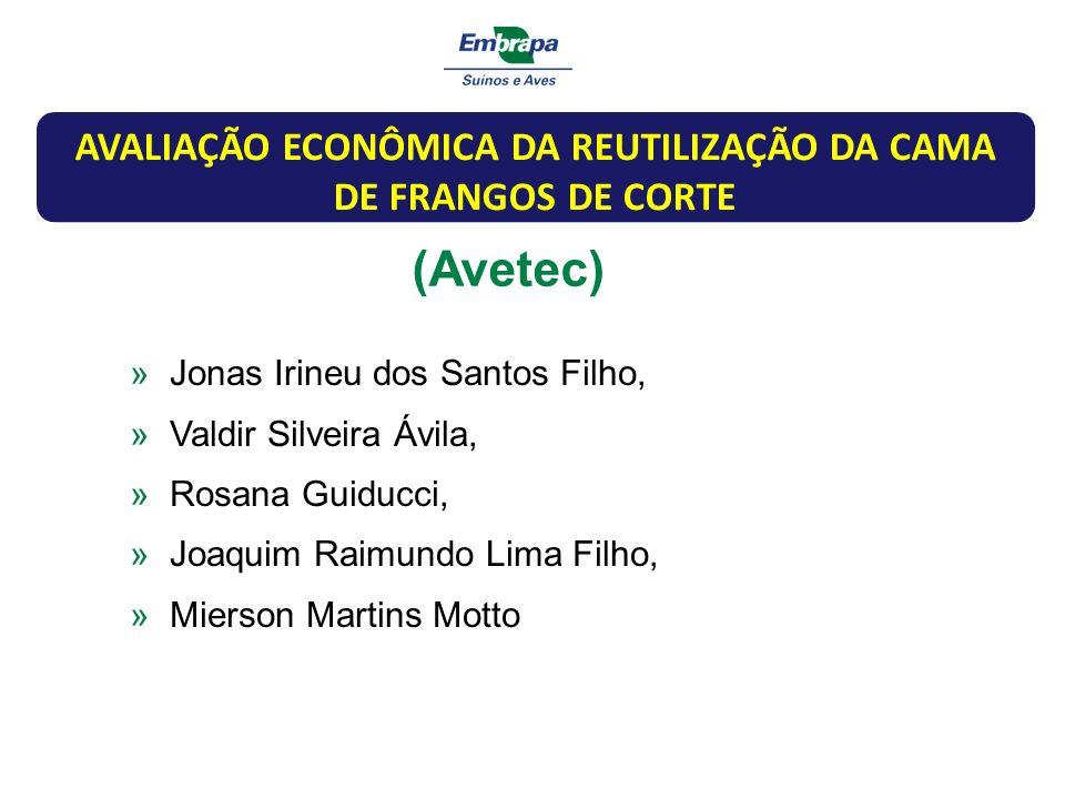 AVALIAÇÃO ECONÔMICA DA REUTILIZAÇÃO DA CAMA DE FRANGOS DE CORTE