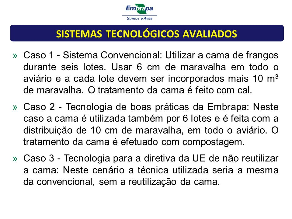 SISTEMAS TECNOLÓGICOS AVALIADOS