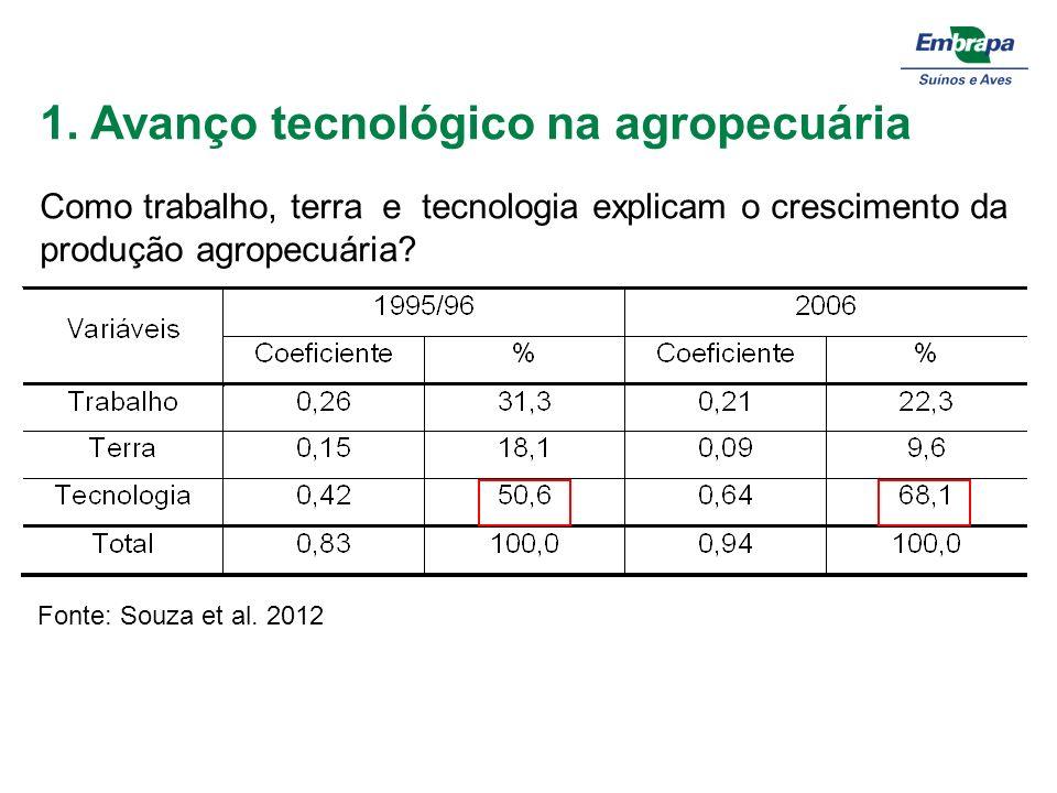 1. Avanço tecnológico na agropecuária