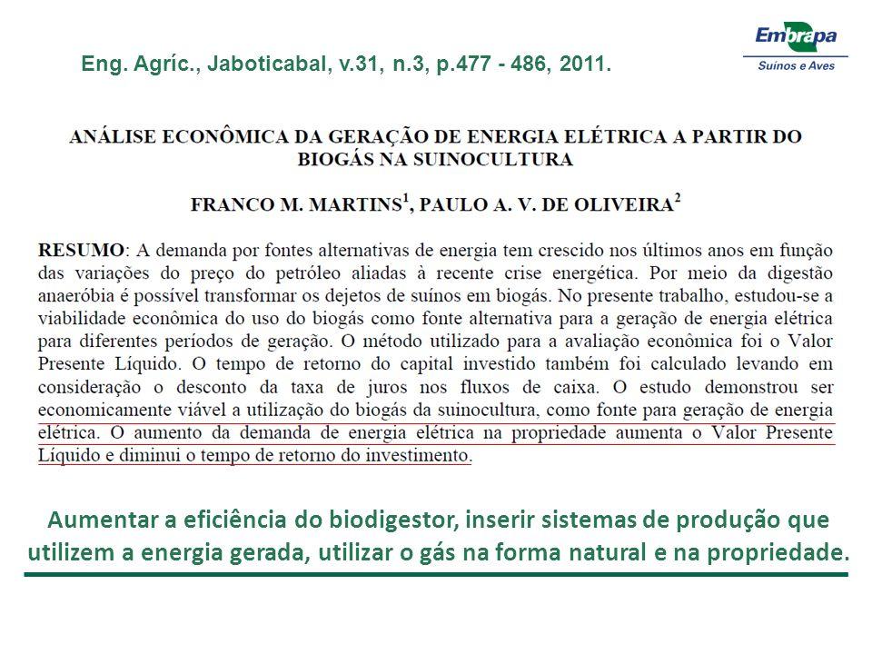Eng. Agríc., Jaboticabal, v.31, n.3, p.477 - 486, 2011.