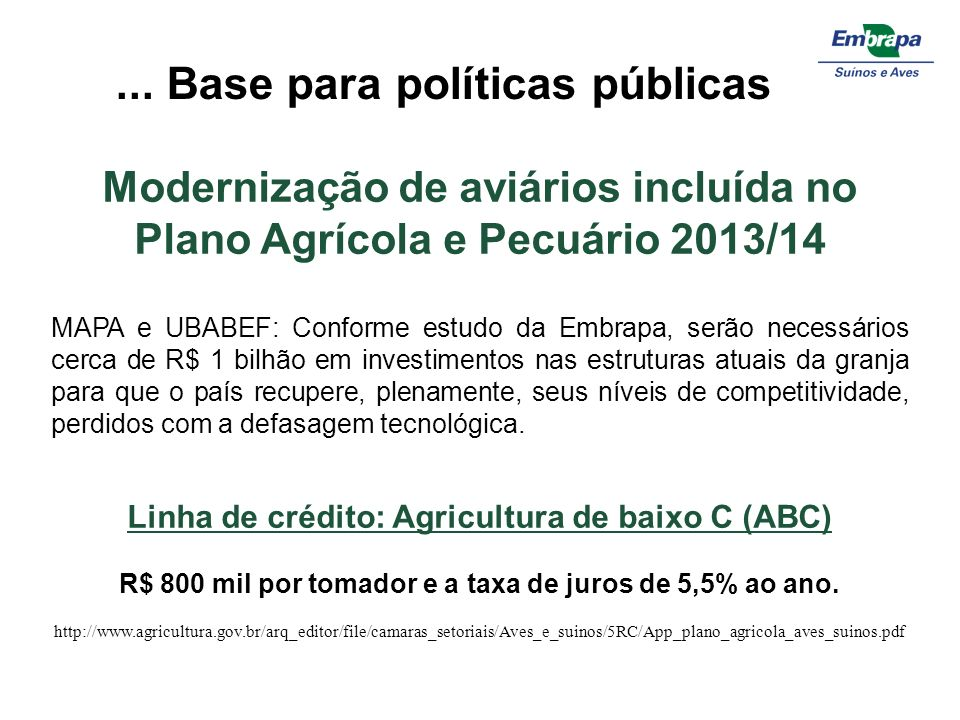 ... Base para políticas públicas