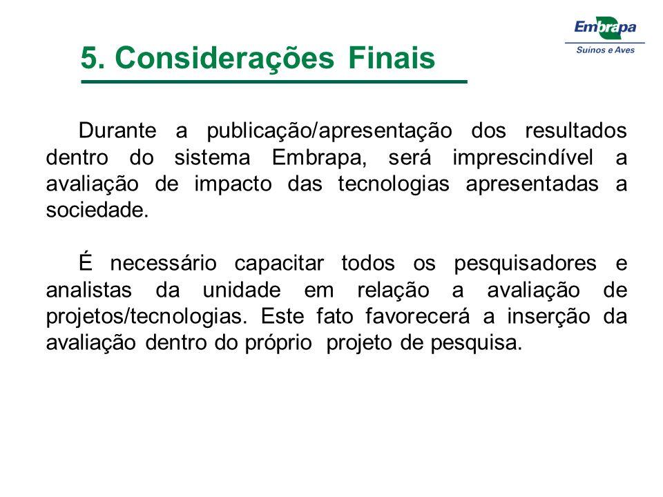5. Considerações Finais