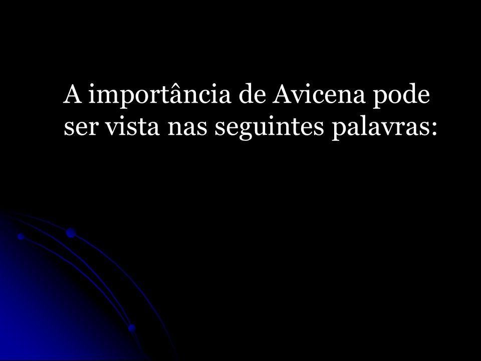 A importância de Avicena pode