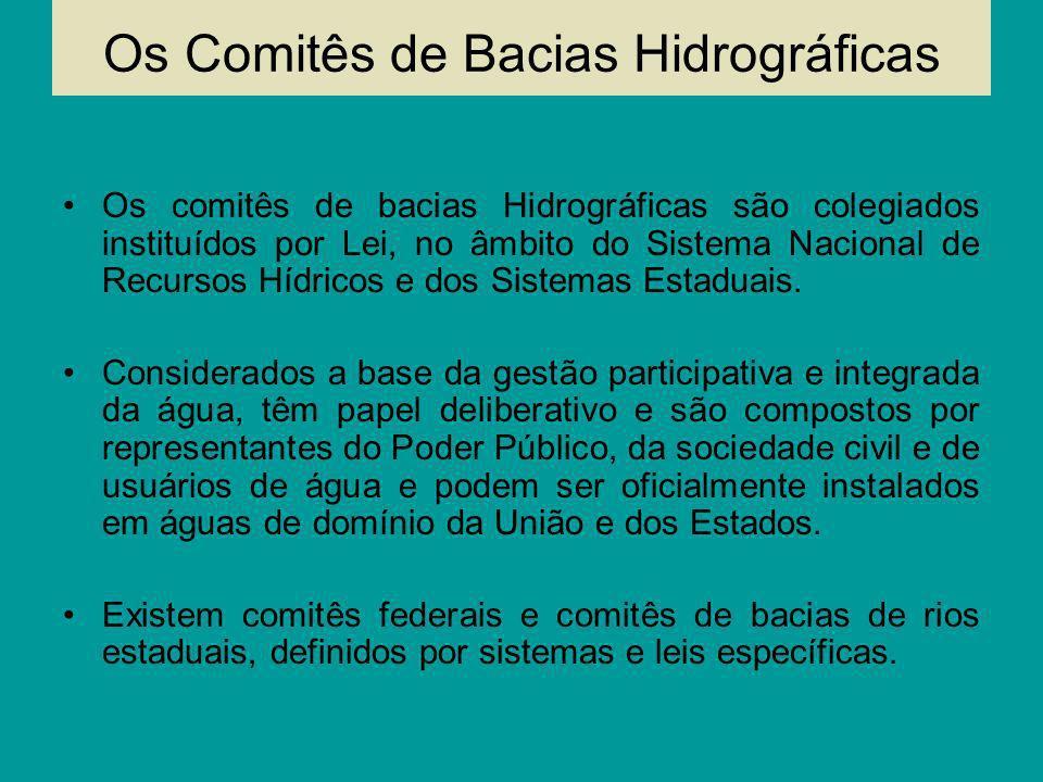 Os Comitês de Bacias Hidrográficas