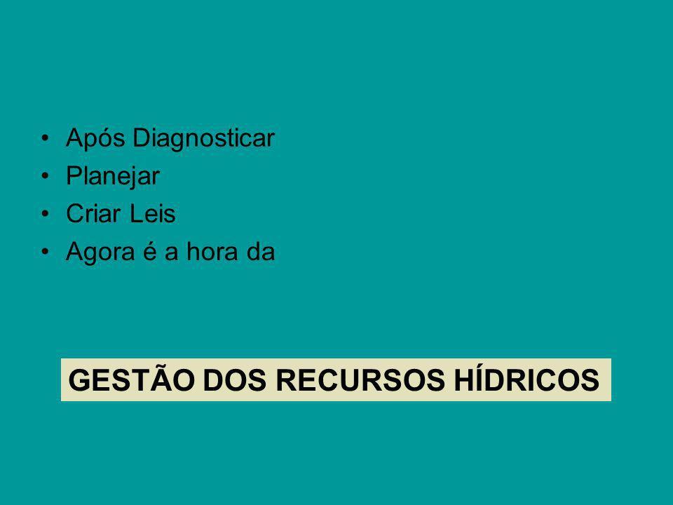 GESTÃO DOS RECURSOS HÍDRICOS