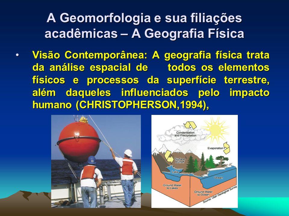 A Geomorfologia e sua filiações acadêmicas – A Geografia Física