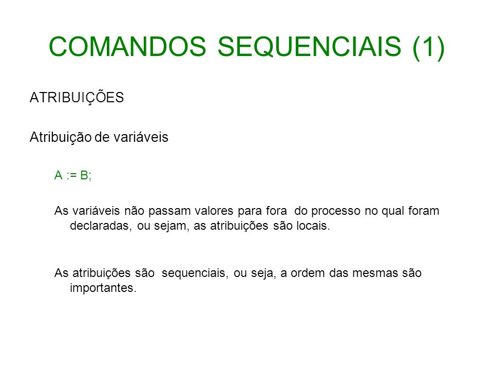 COMANDOS SEQUENCIAIS (1)