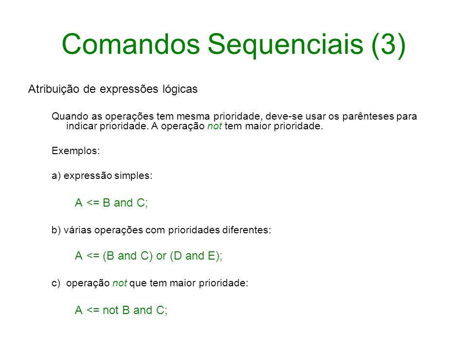 Comandos Sequenciais (3)
