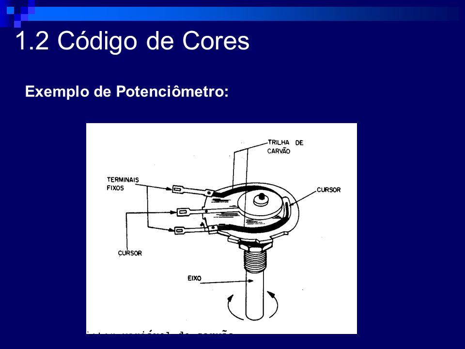 1.2 Código de Cores Exemplo de Potenciômetro: