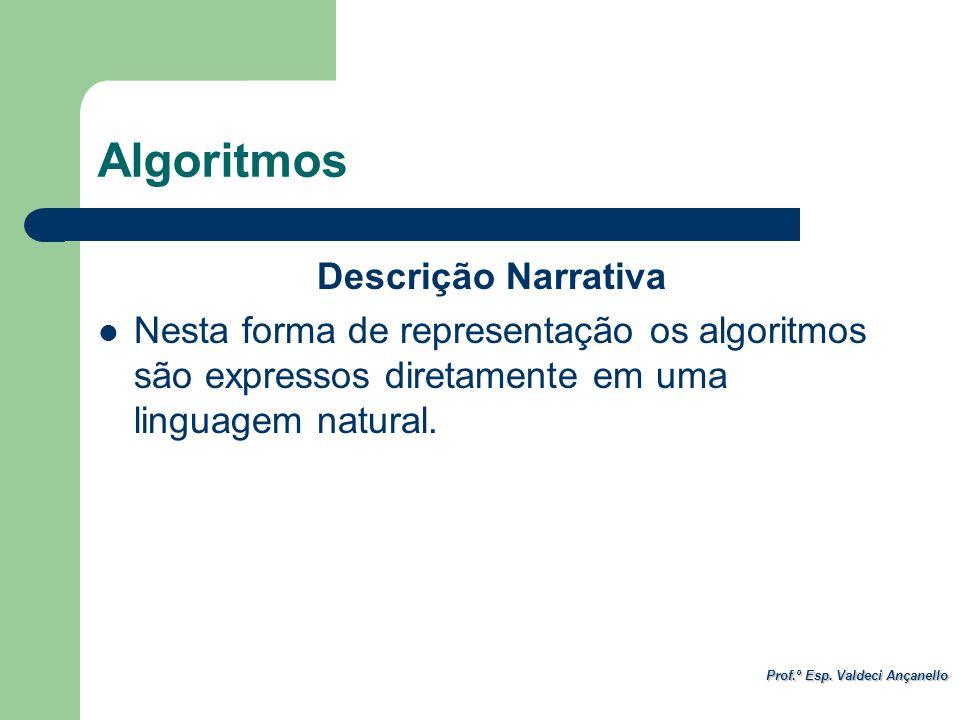 Algoritmos Descrição Narrativa